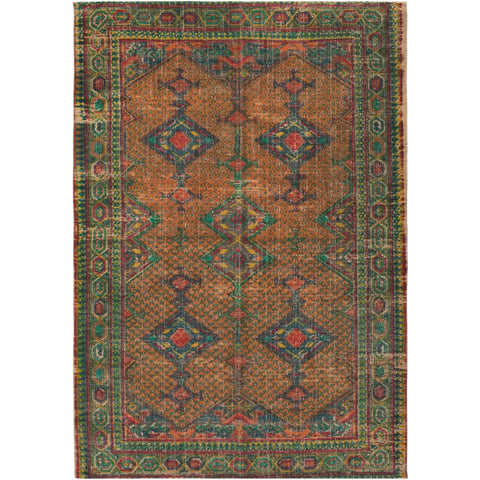 Shadi Khaki, Bright Orange Rug - Surya (SDI-1009)