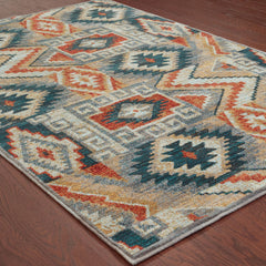 SEDONA 5937D Blue, Orange Rug - Oriental Weavers