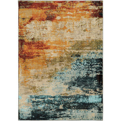 SEDONA 6365A Blue, Red Rug - Oriental Weavers