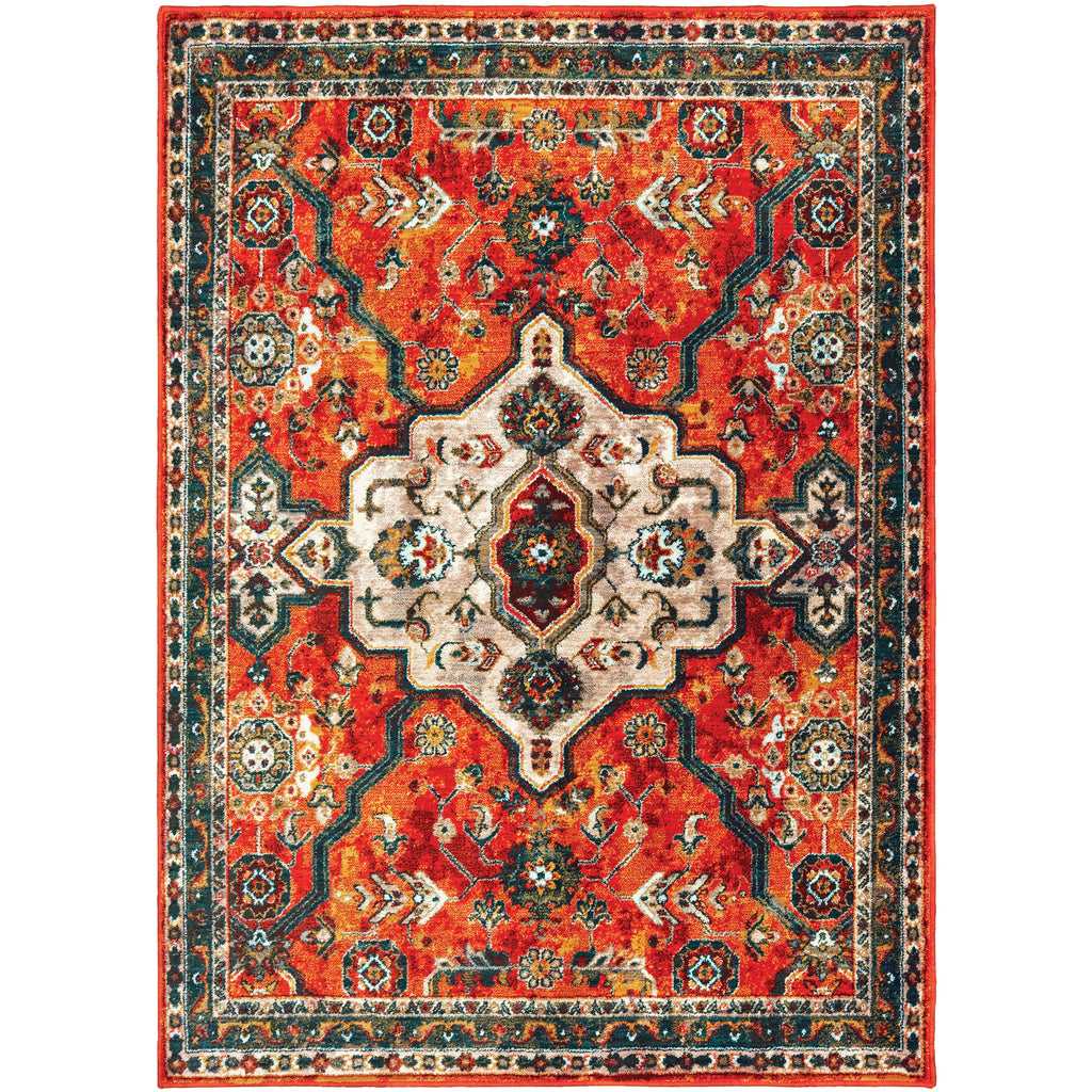 SEDONA 9589A Orange, Blue Rug - Oriental Weavers