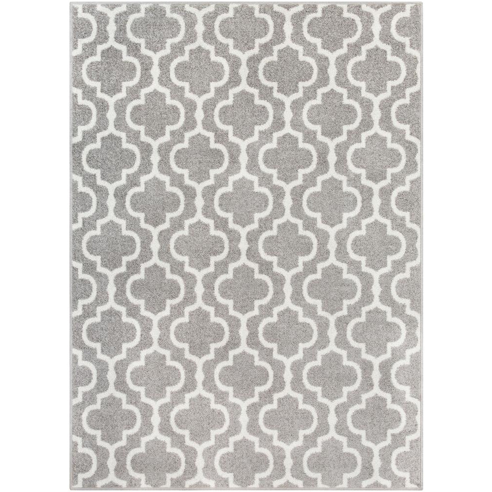 Seville Medium Gray, White Rug - Surya (SEV-2318)