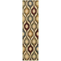 STRATTON 5880A Ivory, Blue Rug - Oriental Weavers