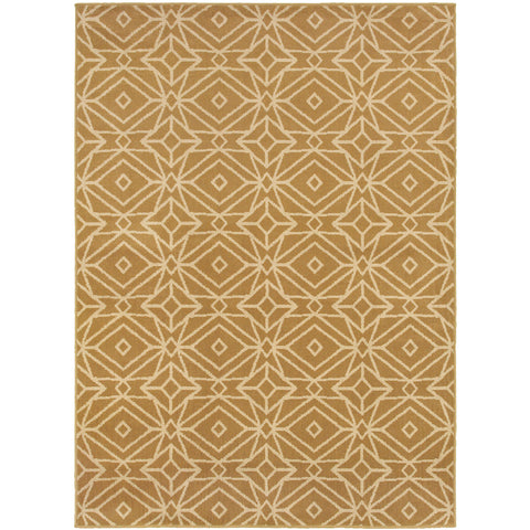 STRATTON 5882A Gold, Ivory Rug - Oriental Weavers