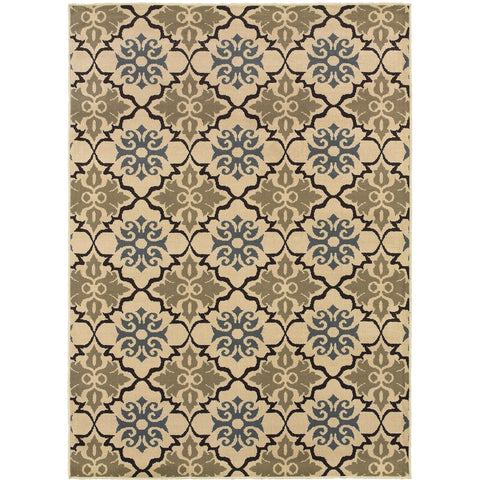 STRATTON 6015A Blue, Green Rug - Oriental Weavers