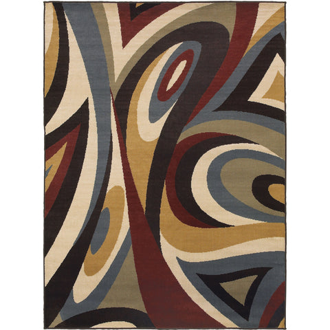 STRATTON 6016B Brown, Green Rug - Oriental Weavers