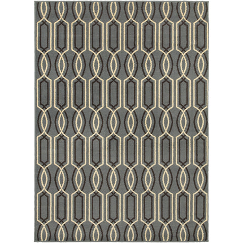 STRATTON 6019A Blue, Ivory Rug - Oriental Weavers