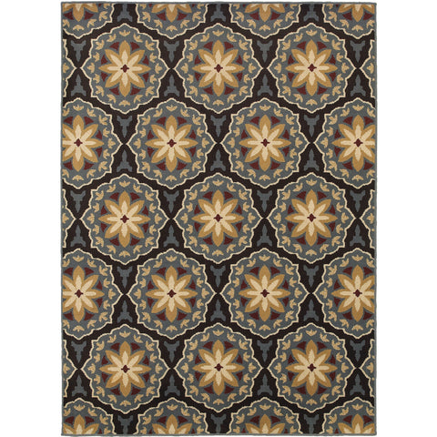 STRATTON 6023A Blue, Brown Rug - Oriental Weavers