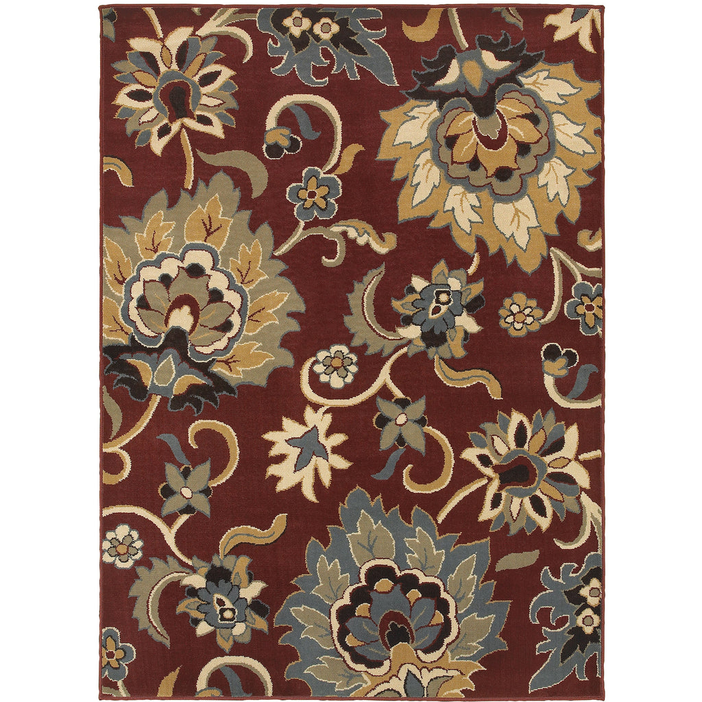 STRATTON 6034C Red, Gold Rug - Oriental Weavers
