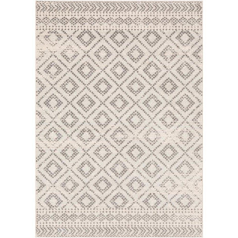 Sunderland Light Gray, White Rug - Surya (SUN-2301)