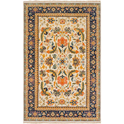 Taj Mahal Burnt Orange, Saffron Rug - Surya (TJ-6600)