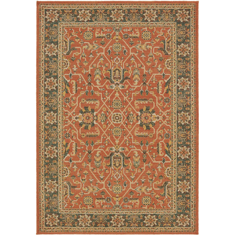TOSCANA 9537C Orange, Blue Rug - Oriental Weavers