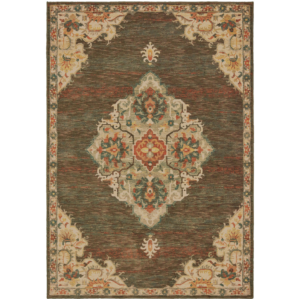 TOSCANA 9568C Charcoal, Orange Rug - Oriental Weavers