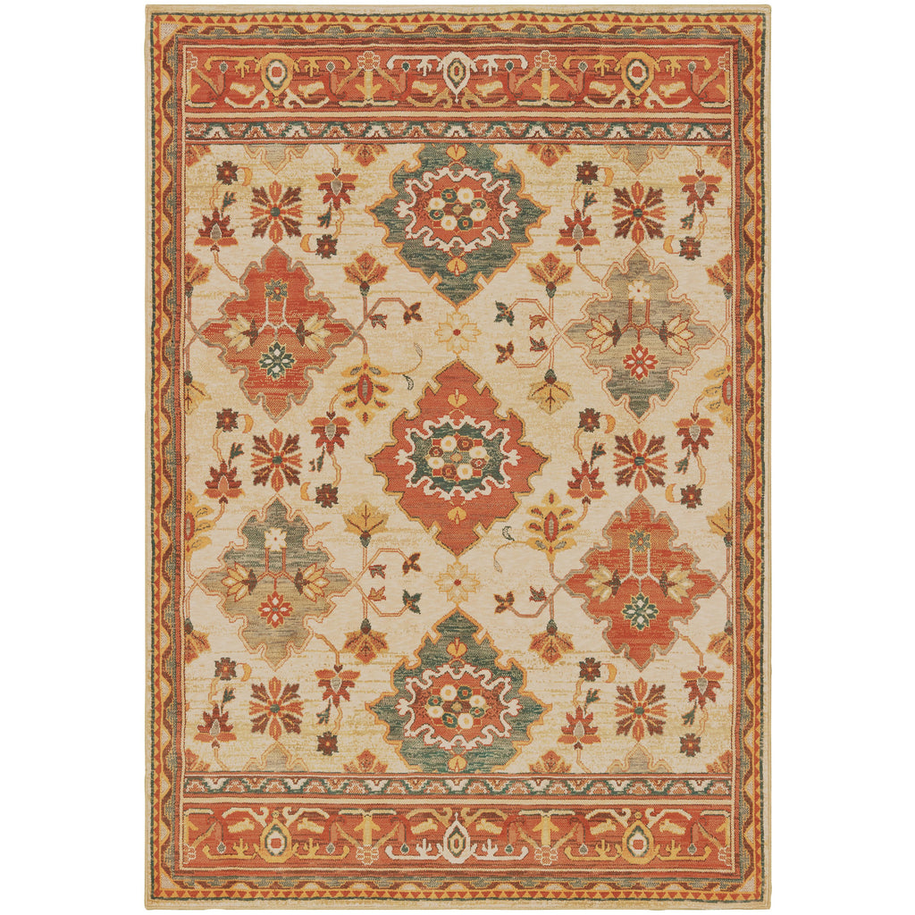 TOSCANA 9570A Ivory, Orange Rug - Oriental Weavers