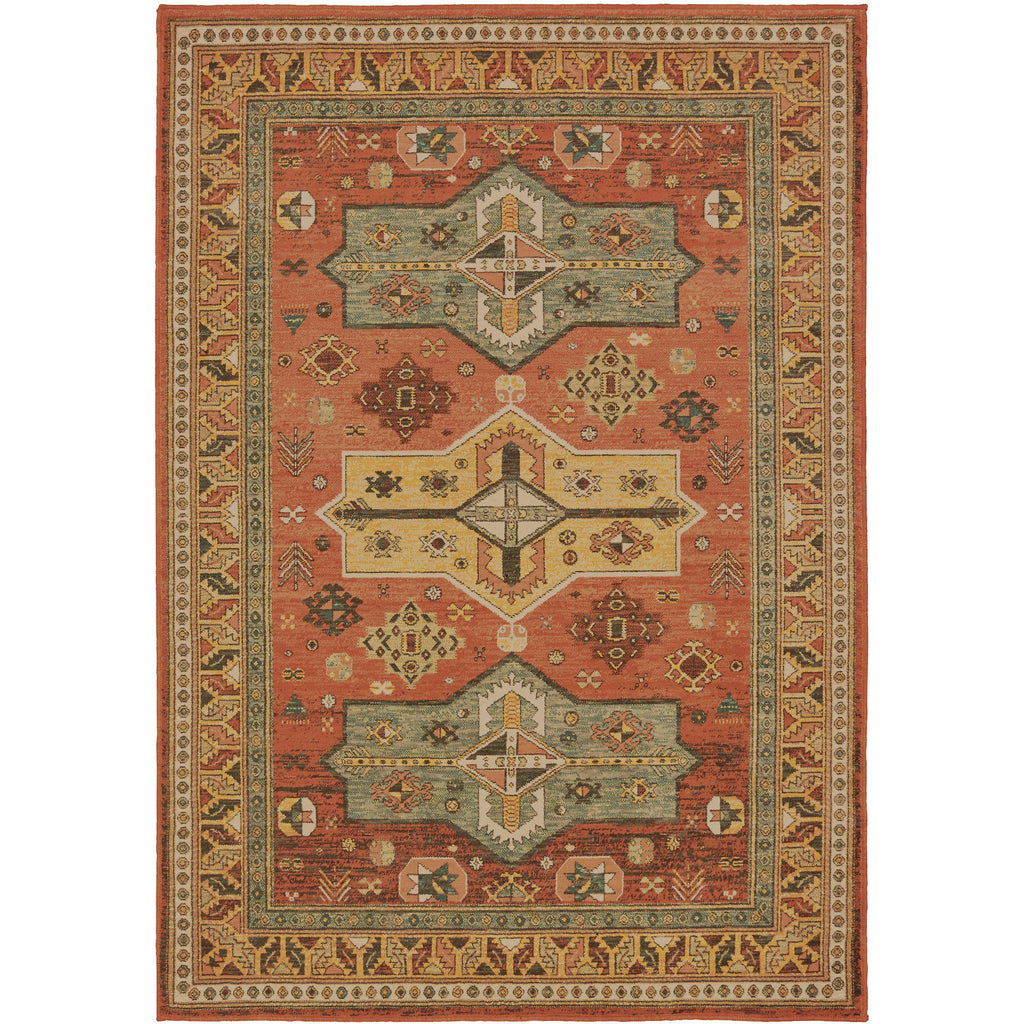 TOSCANA 9571A Orange, Gold Rug - Oriental Weavers