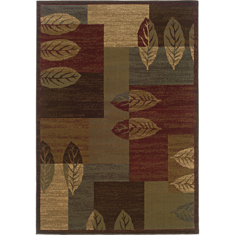 TYBEE 2360R Brown, Beige Rug - Oriental Weavers