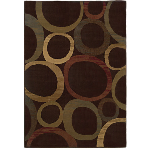 TYBEE 2361D Brown, Beige Rug - Oriental Weavers
