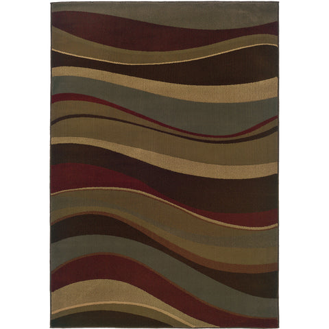 TYBEE 2364G Brown, Green Rug - Oriental Weavers