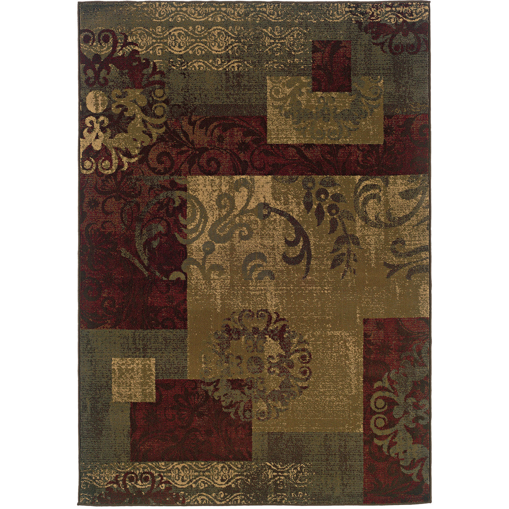 TYBEE 851U6 Green, Red Rug - Oriental Weavers