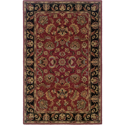 WINDSOR 23102 Red, Black Rug - Oriental Weavers