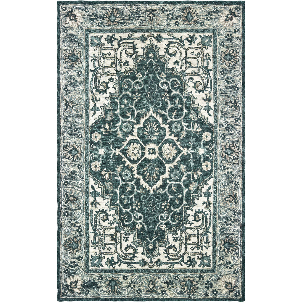 ZAHRA 75506 Grey, Blue Rug - Oriental Weavers
