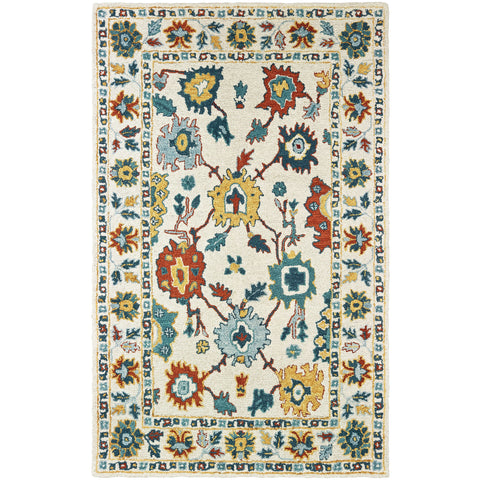 ZAHRA 75507 Ivory, Gold Rug - Oriental Weavers
