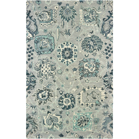 ZAHRA 75508 Grey, Blue Rug - Oriental Weavers