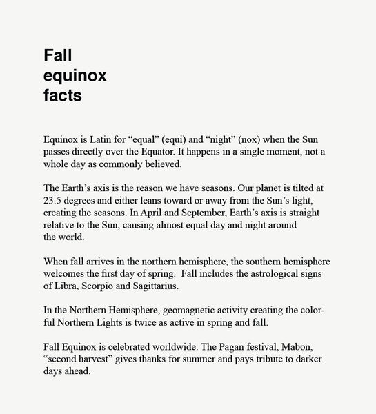 An image of five fall equinox facts
