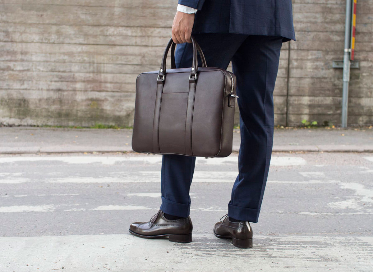 The Soft Briefcase, Mocha