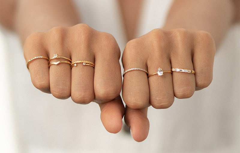 Linjer jewelry - sterling silver and solid 14k gold