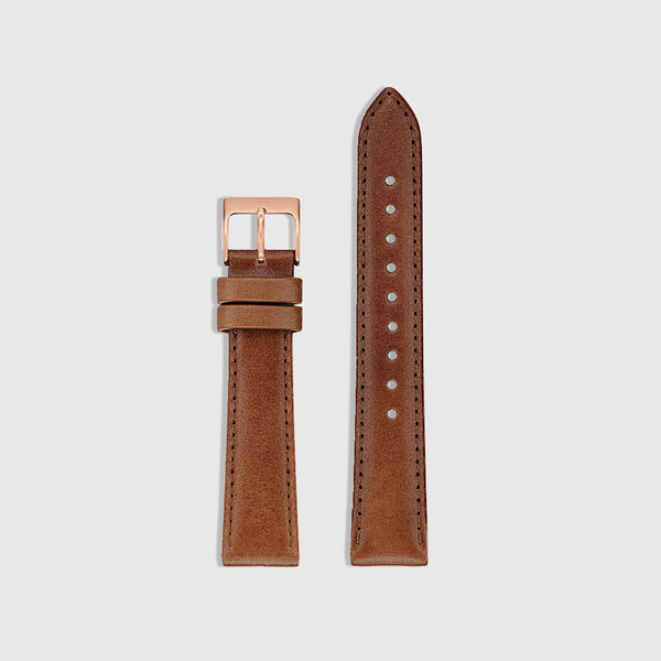 Men's Watch Strap - Rose Gold/Tan