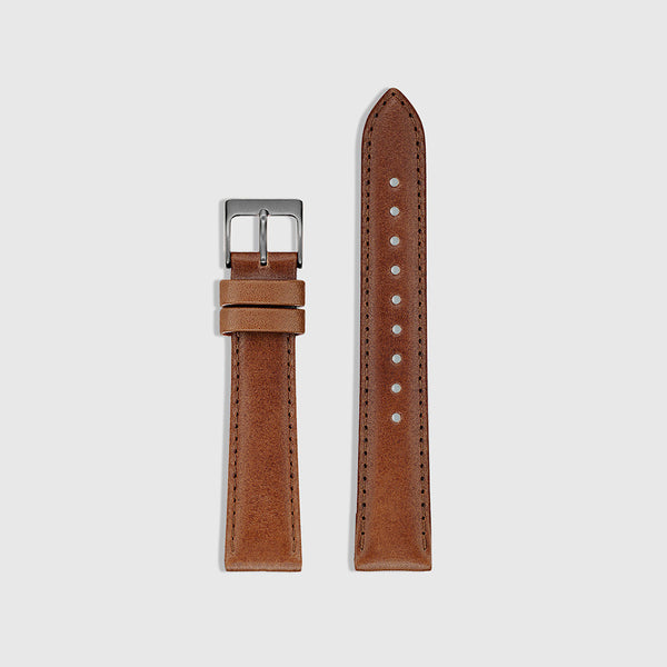 Men's Watch Strap - Gunmetal/Tan