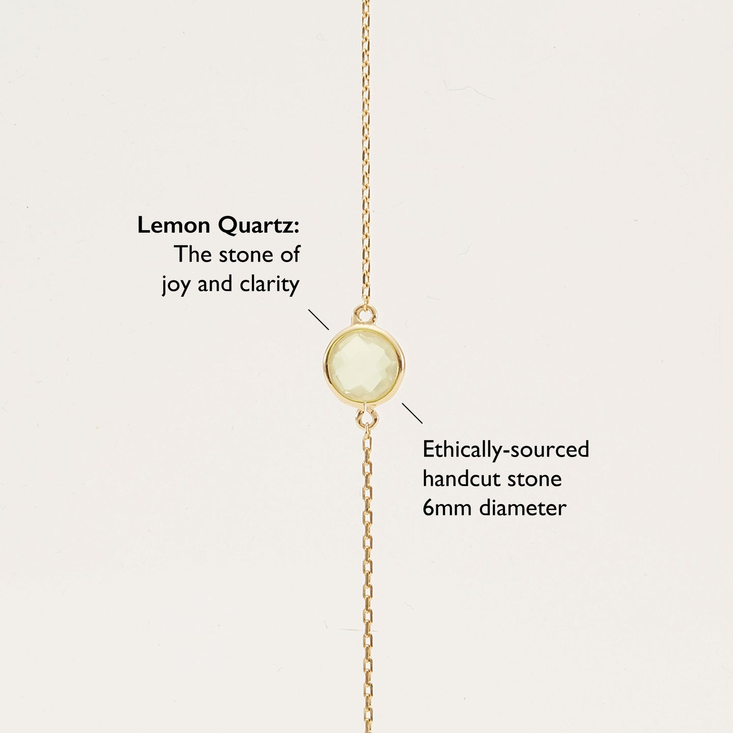 Gold Vermeil, Lemon Quartz