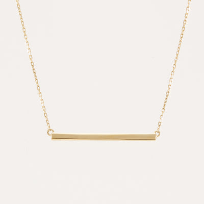Hanne Bar Necklace - Gold Vermeil