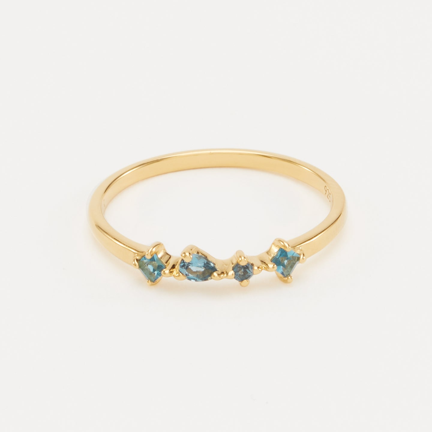 Gold Vermeil, London Blue Topaz