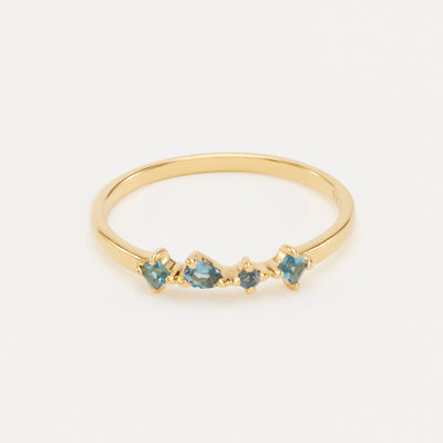 Ilse Ring - Gold Vermeil, London Blue Topaz / 5