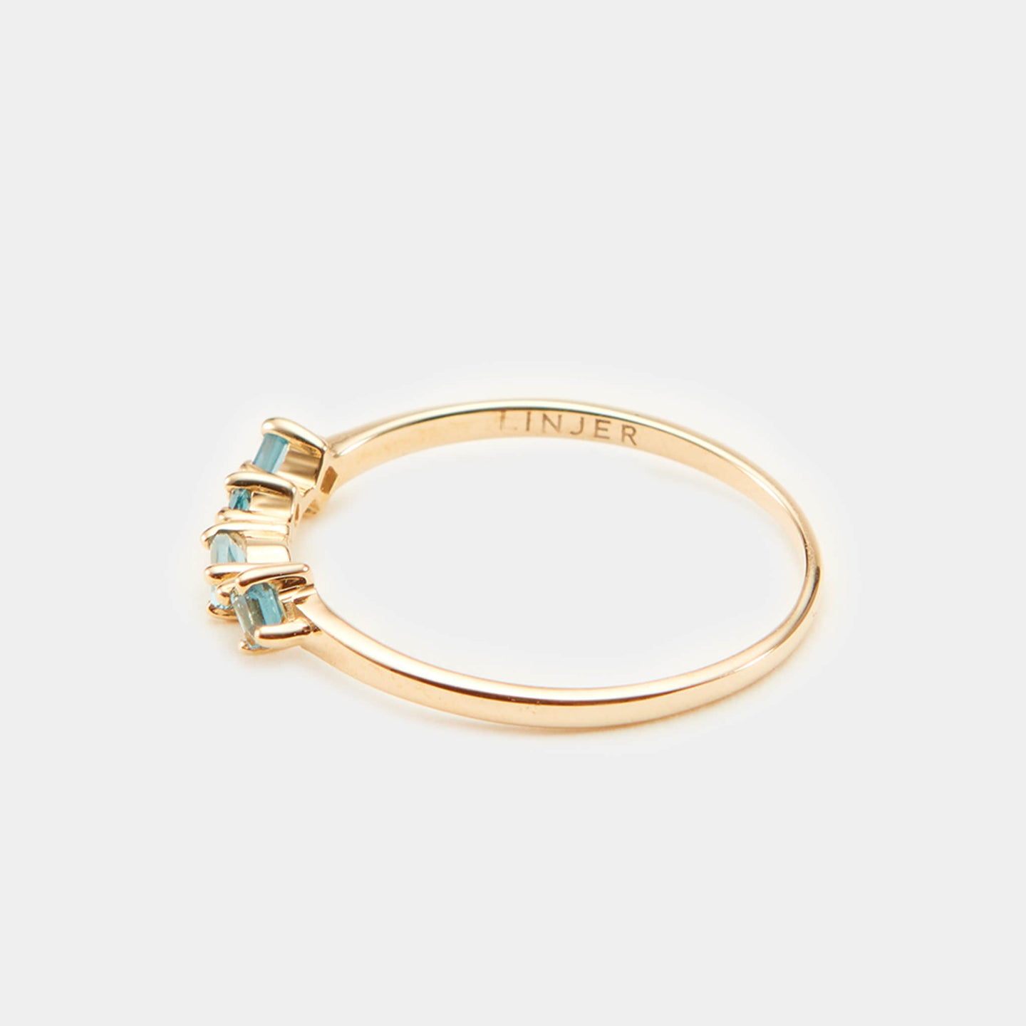 14k Solid Gold, London Blue Topaz