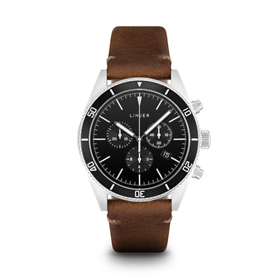 The Chrono-Diver - Leather - Black Dial, Desert