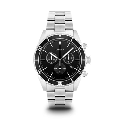 The Chrono-Diver - Steel Band - Black Dial, Steel Band