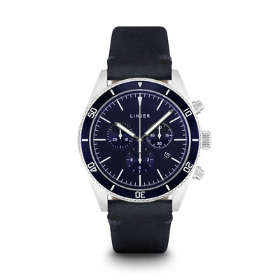 The Chrono-Diver - Leather - Blue Dial, Navy