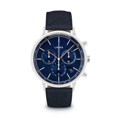 The Chronograph - Blue Dial, Silver/Navy / 38mm