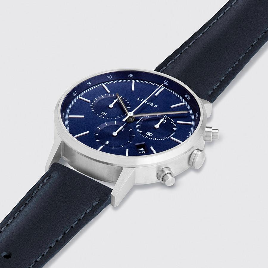 Blue Dial, Silver/Navy