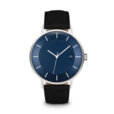 Men's The Classic Watch - Blue Dial, Silver/Black / 38mm