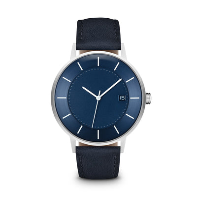 Men's The Classic Watch - Blue Dial, Silver/Navy / 38mm