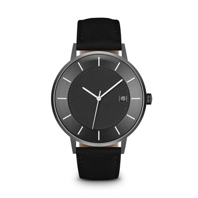 Men's The Classic Watch - Grey Dial, Gunmetal/Black / 38mm