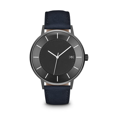 Men's The Classic Watch - Grey Dial, Gunmetal/Navy / 38mm