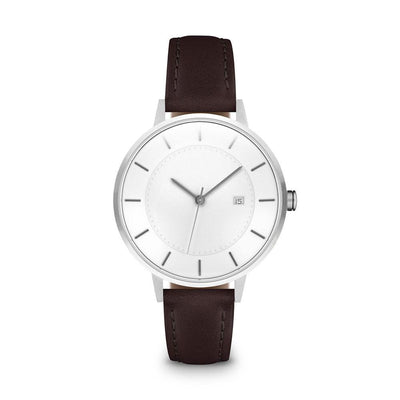 Women's The Classic Watch - Silver/Mocha / 34mm
