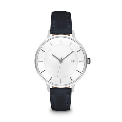 Women's The Classic Watch - Silver/Navy / 34mm