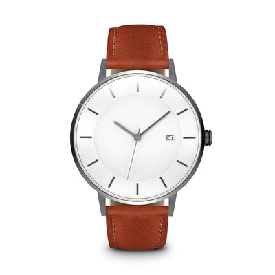 Men's The Classic Watch - Gunmetal/Tan / 38mm