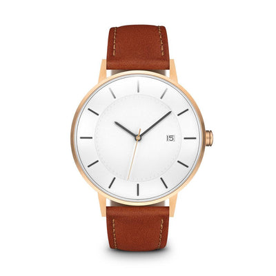 Men's The Classic Watch - Rose Gold/Tan / 38mm
