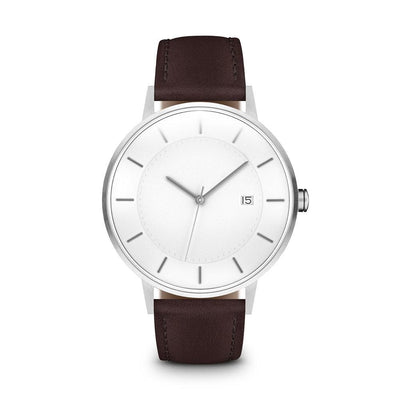 Men's The Classic Watch - Silver/Mocha / 38mm